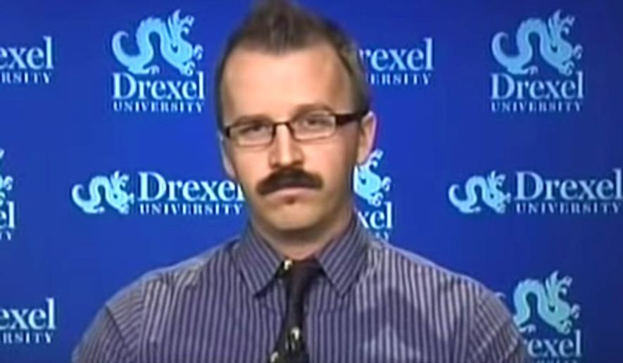 """George Ciccariello-Maher, associate professor of political science at Drexel University, tweeted on Dec. 25, 2016, that he wished for a """"white genocide."""" (MSNBC screenshot)"""
