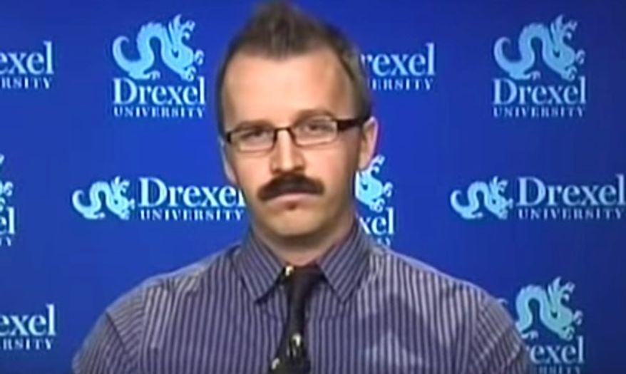 "George Ciccariello-Maher, formerly an associate professor of political science at Drexel University, tweeted on Dec. 25, 2016, that he wished for a ""white genocide."" On January 1, 2018, Mr. Ciccariello-Maher announced he had been hired by New York University as a visiting scholar at the school's Hemispheric Institute of Performance and Politics. (MSNBC screenshot) **FILE**"