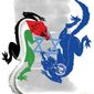 Illustration on the continued attacks on Israel by Linas Garsys/The Washington Times