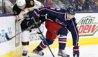 Columbus Blue Jackets rookie defenseman Zach Werenski has scored 12 of his 22 points on the power play this season. (Associated Press)