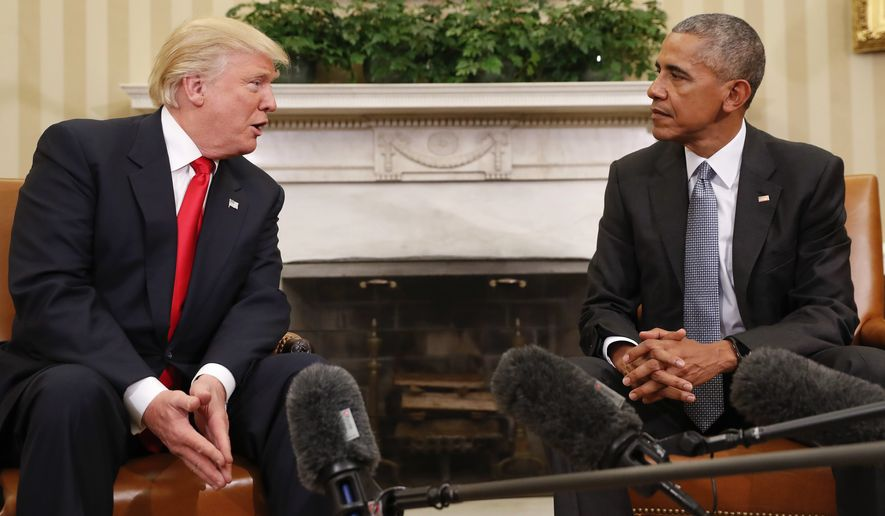 With 24 days to go before Donald Trump's inauguration, the president-elect's frustration with President Obama's perceived undermining of his victory, and wide-ranging efforts to tie the hands of the incoming administration, has boiled over. (Associated Press)
