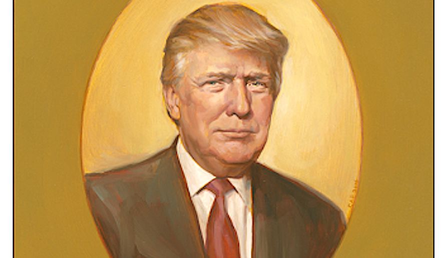 The first official oil portrait of President-elect Donald Trump  was unveiled Wednesday. (Image courtesy of C-SPAN and Chas Fagan)