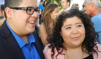 "Rico Rodriguez (""Modern Family"") his sister Raini Rodriguez (""Austin & Ally"").  (Dave Kapp)"