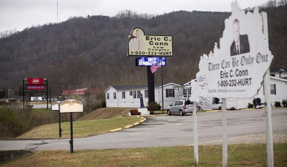 Eric C. Conn used these law offices in Stanville, Kentucky, to commit one of the biggest Social Security disability fraud cases in U.S. history. (Associated Press/File)
