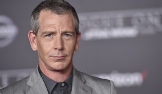 "FILE - In this Dec. 10, 2016 file photo, Ben Mendelsohn arrives at the world premiere of ""Rogue One: A Star Wars Story"" at the Pantages Theatre, in Los Angeles. Court records show Mendelsohn's wife has filed for divorce from the ""Rogue One"" star. Emma Forrest filed for divorce in Los Angeles Superior Court on Friday, Dec. 29 citing irreconcilable differences as the reason for the end of their four year marriage. Forrest is seeking physical custody of their 3-year-old daughter.  (Photo by Jordan Strauss/Invision/AP, File)"