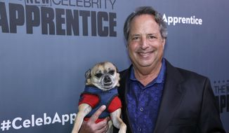 "This Dec. 9, 2016, file photo released by NBC shows Jon Lovitz, a contestant on ""The New Celebrity Apprentice,"" at a press junket in Universal City, Calif. The latest season will premiere on Jan. 2, 2017. (Paul Drinkwater/NBC via AP) ** FILE **"