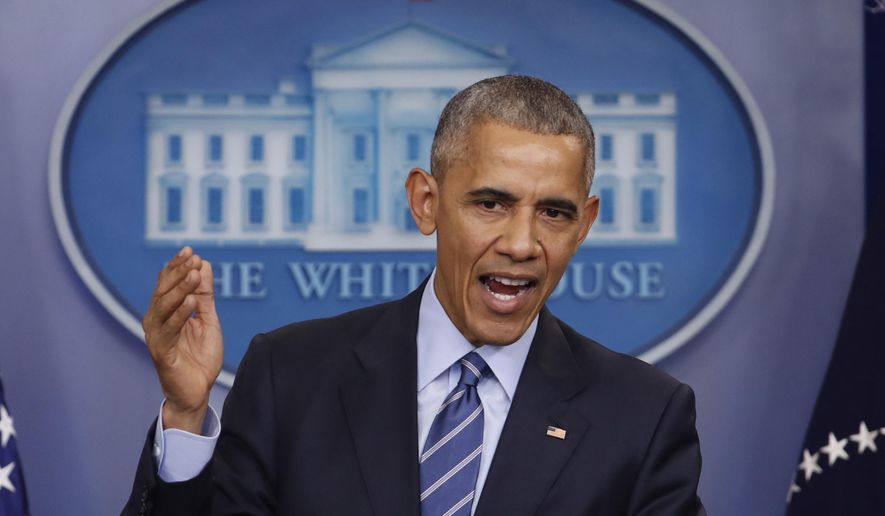 In this photo taken Dec. 16, 2016, President Barack Obama speaks during a news conference in the briefing room of the White House in Washington. President Barack Obama will strategize next week with Democratic lawmakers about how to prevent Republicans from destroying his Affordable Care Act. He'll also give a speech in Chicago on Jan. 10, 2017, that is expected to be his closing message as president.  (AP Photo/Pablo Martinez Monsivais)