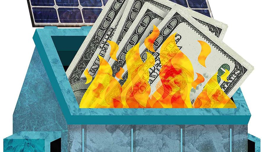 "The Costs of ""Renewable"" Energy Illustration by Greg Groesch/The Washington Times"