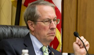 In this May 19, 2015, file photo, House Judiciary Committee Chairman Rep. Bob Goodlatte, R-Va., listens to testimony on Capitol Hill in Washington. House Republicans on Monday, Jan. 2, 2017, voted to eviscerate the Office of Congressional Ethics. Under the ethics change pushed by Goodlatte, the independent body would fall under the control of the House Ethics Committee, which is run by lawmakers. (AP Photo/Jacquelyn Martin, File)