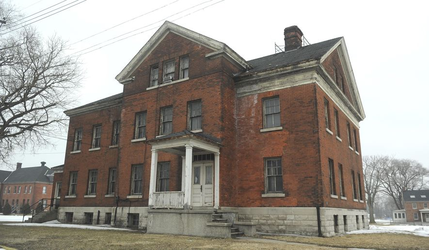 FILE - This March 10, 2015 file photo shows a structure in Historic Fort Wayne from the 1880's in need of repair in Detroit. Historic Fort Wayne recently received $265,000 from the Kresge Foundation for the project.  The grant covers developing a comprehensive plan for the underused riverfront complex. It aims to secure tenants, including community and cultural organizations, to renovate and use about 30 military buildings.(Max Ortiz/Detroit News via AP, File)