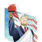 Triumphant Trump Illustration by Linas Garsys/The Washington Times