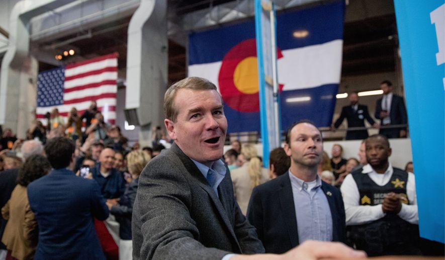 "Sen. Michael F. Bennet, Colorado Democrat, has been a large proponent of using the GOP's so-called ""war on women"" to raise funds to get Republicans out of office, but the party has since won the Senate and now the presidency despite such rhetoric. (Associated Press) **FILE**"
