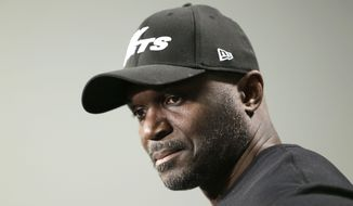 New York Jets head coach Todd Bowles talks to reporters at the Jets' training facility in Florham Park, N.J., Monday, Jan. 2, 2017. After ending a dismal season on a winning note with a 30-10 victory over the Buffalo Bills on Sunday, the Jets are making no changes in leadership heading into what appears will be a busy offseason. (AP Photo/Seth Wenig)