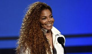In this June 28, 2015, file photo, Janet Jackson accepts the ultimate icon: music dance visual award at the BET Awards in Los Angeles. The 50-year-old pop superstar and her husband Wissam Al Mana welcomed their son, Eissa Al Mana, on Tuesday, Jan. 3, 2017, a representative for the singer confirmed. (Photo by Chris Pizzello/Invision/AP, File)
