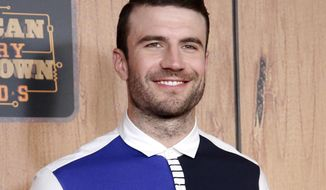 FILE - In this May 1, 2016 photo, country singer Sam Hunt, winner of the digital album of the year award, poses in the press room at the 2016 American Country Countdown Awards in Inglewood, Calif. A representative confirmed on Tuesday, Jan. 3, 2017, that Hunt and longtime girlfriend Hannah Lee Fowler are engaged. (Photo by Danny Moloshok/Invision/AP, File)