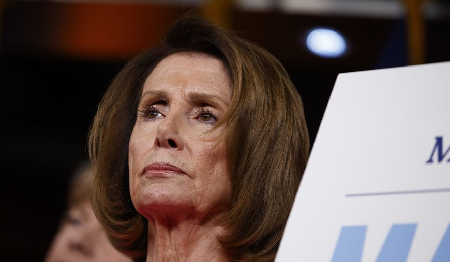 House Minority Leader Nancy Pelosi of Calif., listens during a news conference on President Barack Obama's signature healthcare law, Wednesday, Jan. 4, 2017, on Capitol Hill in Washington. (AP Photo/Evan Vucci)