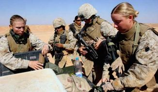 Camp Lejeune in North Carolina will receive its first female infantry Marines on Thursday, Jan. 5, 2017. (U.S. Marine Corps) ** FILE **