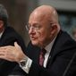 "Director of National Intelligence James R. Clapper told the Senate Armed Service Committee that the U.S. needs an information agency ""on steroids"" to fight Russia's propaganda operation. (Associated Press)"