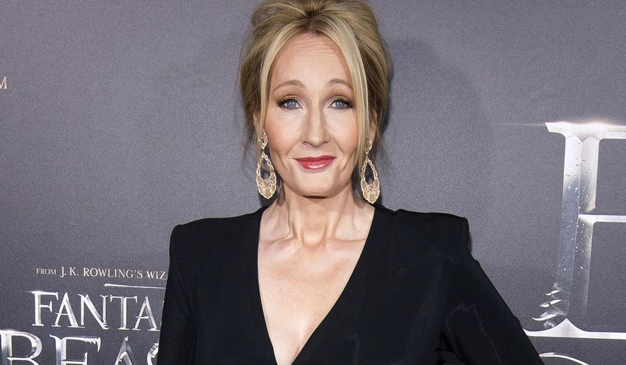 """FILE - In this Nov. 10, 2016 file photo, J. K. Rowling attends the world premiere of """"Fantastic Beasts and Where To Find Them"""" in New York. Rowling's Pottermore web site announced Thursday, Jan. 5, 2017, that a new edition of the Harry Potter spinoff """"Fantastic Beasts and Where to Find Them"""" will come out in March. (Photo by Charles Sykes/Invision/AP, File)"""