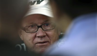 New York Jets owner Woody Johnson listens to a question as he addresses the media at the team's training facility Thursday, Jan. 5, 2017, in Florham Park, N.J. AP Photo/Mel Evans)