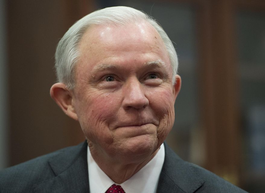 In this Nov. 29, 2016, photo, Attorney General-designate Sen. Jeff Sessions, R-Ala. is seen on Capitol Hill in Washington. (AP Photo/Molly Riley) ** FILE **