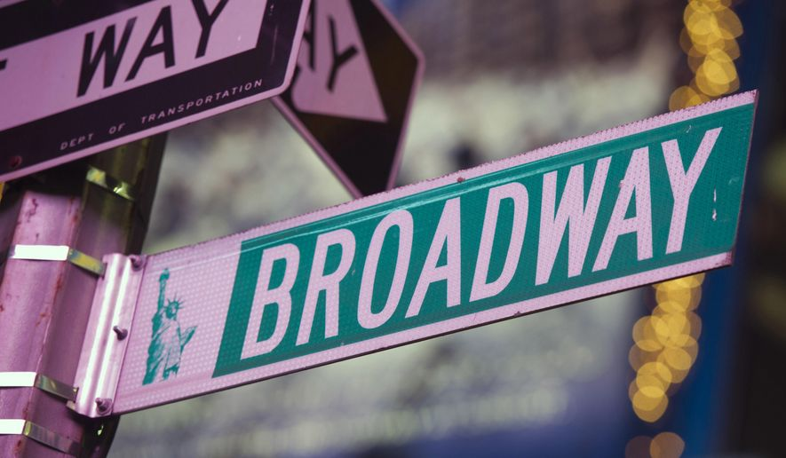FILE - This Jan. 19, 2012 file photo shows a Broadway street in Times Square, in New York. BroadwayCon, a convention for Broadway fans, will be held on Jan. 27–29. (AP Photo/Charles Sykes, File)