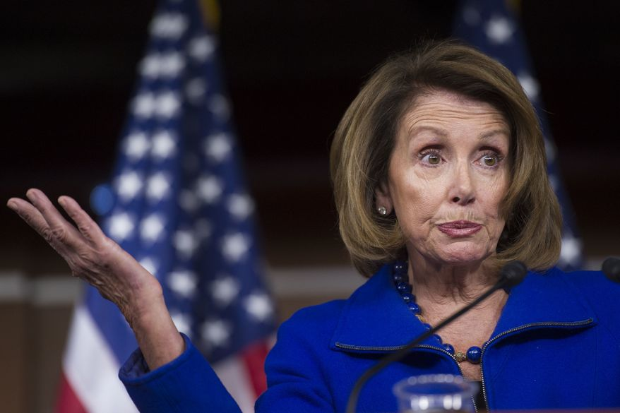 House Minority Leader Nancy Pelosi of Calif., speaks with reporters during her weekly news conference on Capitol Hill in Washington, Friday, Jan. 6, 2017. (AP Photo/Cliff Owen)