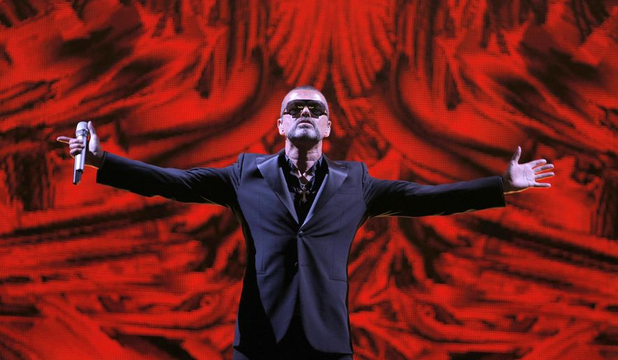 "FILE - In this Sept. 9, 2012 file photo, British singer George Michael performs at a concert to raise money for AIDS charity Sidaction, during the Symphonica tour at Palais Garnier Opera house in Paris, France.  British police seeking to establish facts about the Christmas Day death of pop star George Michael are taking statements about the case. Thames Valley Police said Friday Jan. 6, 2017, this is normal practice involving deaths that are ""unexplained but non-suspicious."" (AP Photo/Francois Mori, File)"