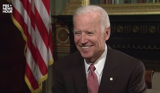 "Vice President Joe Biden said it's time for President-elect Donald Trump to ""grow up"" during a ""PBS NewsHour"" interview that aired Thursday, Jan. 5, 2017. (PBS)"