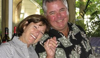 This undated photo provided by Julia Dwyer on Saturday, Jan. 7, 2017 shows her friends, Ann Andres  and her husband, Terry, of Virginia Beach, Va. Terry, 62, was killed in the shooting at the Fort Lauderdale-Hollywood International Airport on Friday, Jan. 6, 2017. The couple had flown to Florida to go on a Caribbean cruise. Both would have celebrated their birthdays on the trip. (Julia Dwyer via AP)