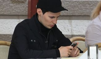 Pavel Durov, the Russian who created the free-of-charge app Telegram as a tool for political dissidents, said the developers quickly take down extremist messages and videos, but more are continually filtering through. (Associated Press)