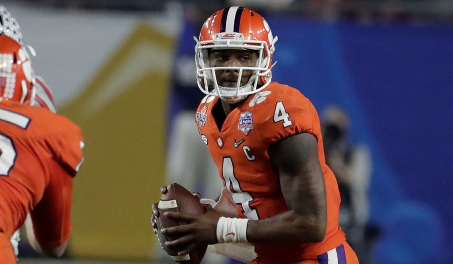 Clemson quarterback Deshaun Watson will enter the NFL draft after playing in his final chance at a national title on Monday. (Associated Press)