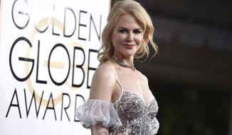 Nicole Kidman arrives at the 74th annual Golden Globe Awards at the Beverly Hilton Hotel on Sunday, Jan. 8, 2017, in Beverly Hills, Calif. (Photo by Jordan Strauss/Invision/AP)