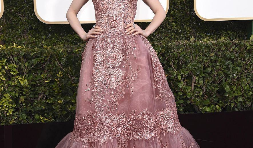 Lily Collins arrives at the 74th annual Golden Globe Awards at the Beverly Hilton Hotel on Sunday, Jan. 8, 2017, in Beverly Hills, Calif. (Photo by Jordan Strauss/Invision/AP)