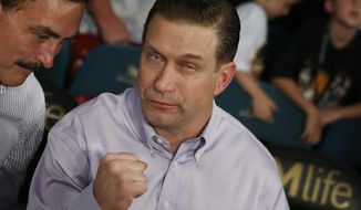 In this April 9, 2016, file photo, Stephen Baldwin attends a boxing match between Manny Pacquiao and Timothy Bradley, in Las Vegas. (AP Photo/Isaac Brekken)