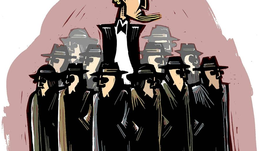 Illustration on U. S. intelligence agencies by William Brown/Tribune Content Agency