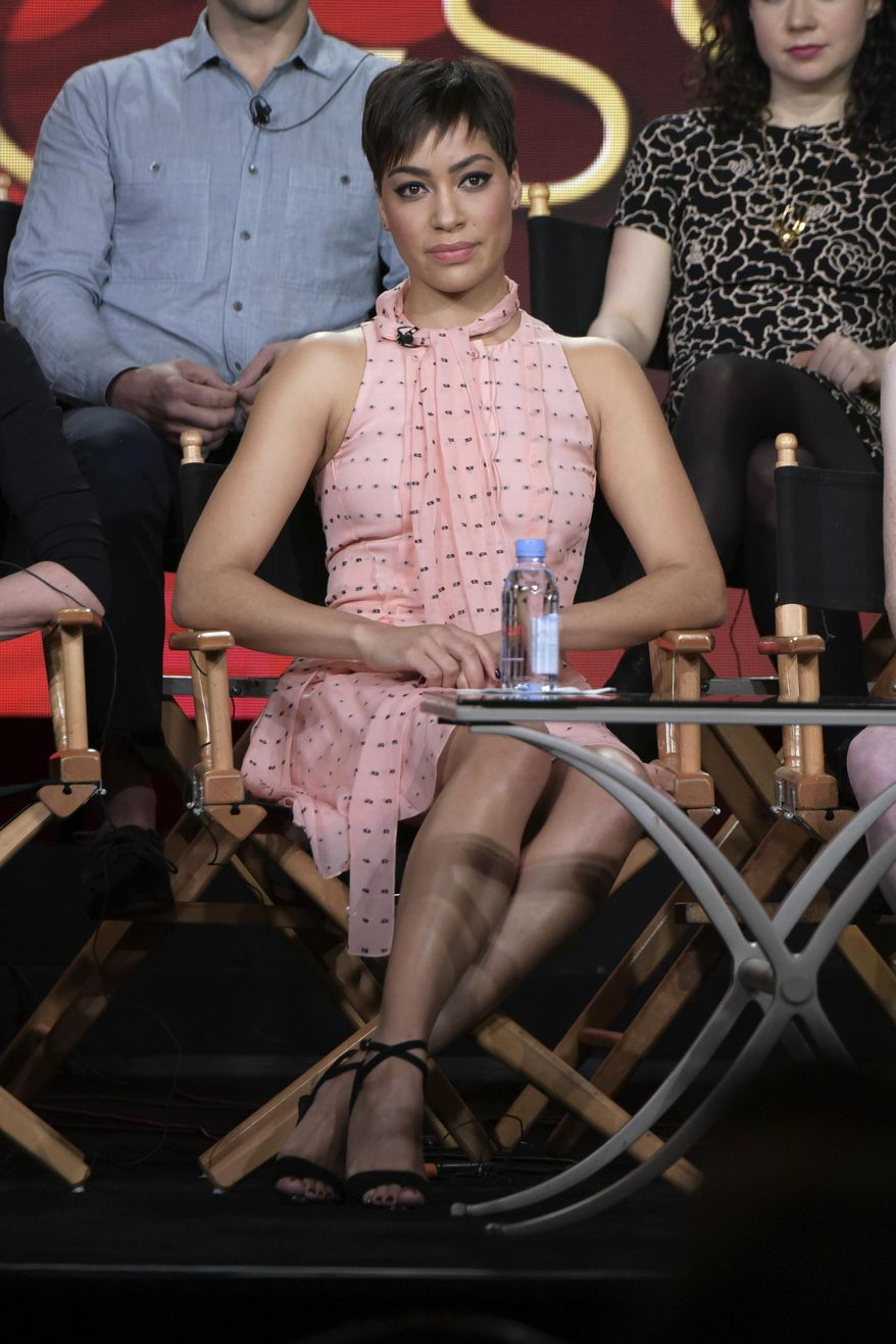 """Cush Jumbo attends """"The Good Fight"""" panel at The CBS portion of the 2017 Winter Television Critics Association press tour on Monday, Jan. 9, 2017, in Pasadena, Calif. (Photo by Richard Shotwell/Invision/AP)"""