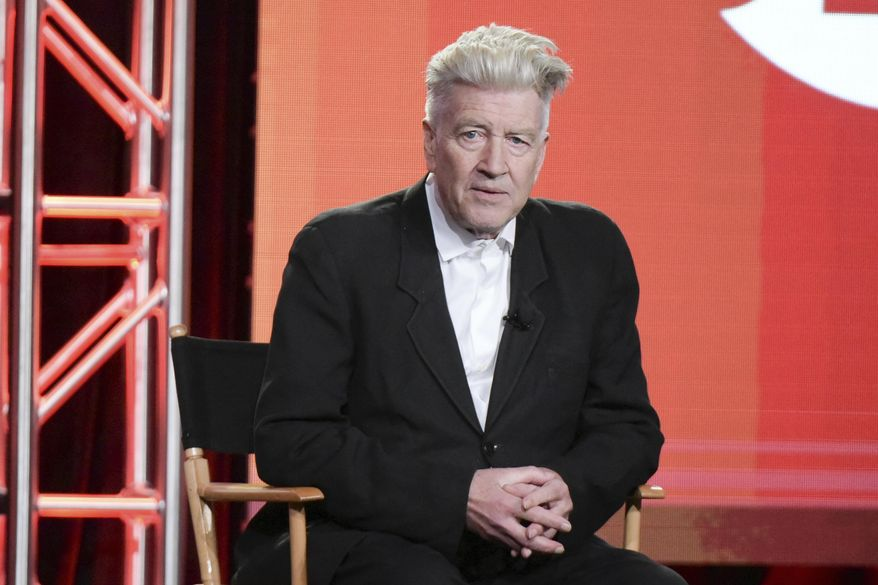 """David Lynch attends the """"Twin Peaks"""" panel at the Showtime portion of the 2017 Winter Television Critics Association press tour on Monday, Jan. 9, 2017, in Pasadena, Calif. (Photo by Richard Shotwell/Invision/AP)"""
