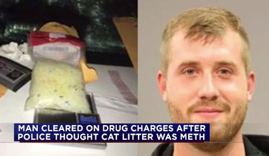 Ross Lebeau, 24, is demanding an apology after he was charged and jailed in Texas for a bag of cat litter that was mistaken for methamphetamine. (KTRK)