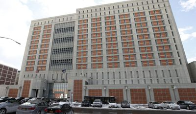 The Metropolitan Detention Center (MDC) is shown Sunday, Jan. 8, 2017, in the Brooklyn borough of New York. (AP Photo/Kathy Willens) ** FILE **