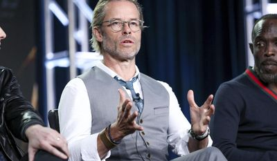 "Guy Pearce speaks at the ""When We Rise"" panel at the Disney/ABC portion of the 2017 Winter Television Critics Association press tour on Tuesday, Jan. 10, 2017, in Pasadena, Calif. (Photo by Rich Fury/Invision/AP)"