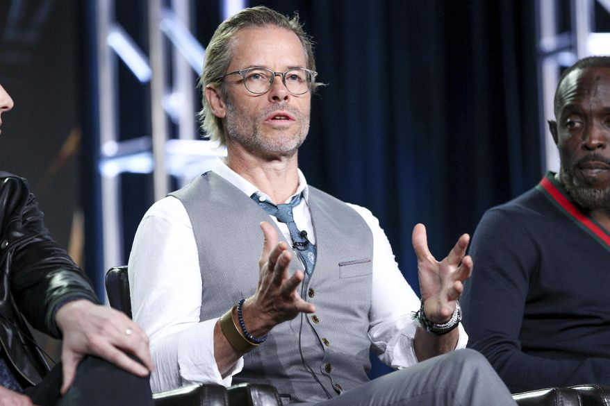 """Guy Pearce speaks at the """"When We Rise"""" panel at the Disney/ABC portion of the 2017 Winter Television Critics Association press tour on Tuesday, Jan. 10, 2017, in Pasadena, Calif. (Photo by Rich Fury/Invision/AP)"""