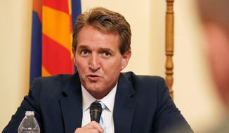 Sen. Jeff Flake, Arizona Republican (Associated Press) **FILE**
