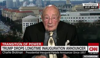 Famed announcer Charles Brotman said Monday that he felt suicidal after learning from President-elect Donald Trump's transition team that he would not be announcing the inauguration parade. (CNN)