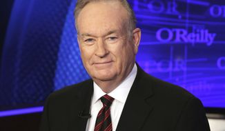 "FILE - In this Oct. 1, 2015 file photo, Bill O'Reilly of the Fox News Channel program ""The O'Reilly Factor,"" poses for photos in New York. The New York Times reported that Juliet Huddy, a former Fox News personality who accused O'Reilly of sexual harassment, was paid a sum in the high six figures by the network's parent company in exchange for her silence and agreement not to sue. The secret agreement was reportedly struck between Huddy and network parent 21st Century Fox in September 2016, weeks after Roger Ailes was ousted as network chairman amid a sexual harassment scandal. (AP Photo/Richard Drew, File)"