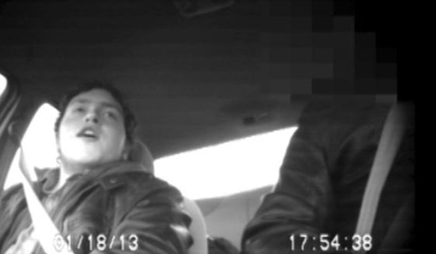 In this Jan. 18, 2013 image taken from Federal Bureau of Investigation surveillance video, Justin Kaliebe talks with an undercover FBI agent while riding in the front seat of an automobile. Now 22, Kaliebe was a high school senior when he was arrested in 2013 as part of an investigation into Americans plotting to aid terrorists abroad. He pleaded guilty shortly after his arrest. A federal judge in New York is set to decide Tuesday, Jan. 10, 2017, how much prison time Kaliebe deserves for plotting to join al-Qaida in 2013. (Federal Bureau of Investigation via AP)
