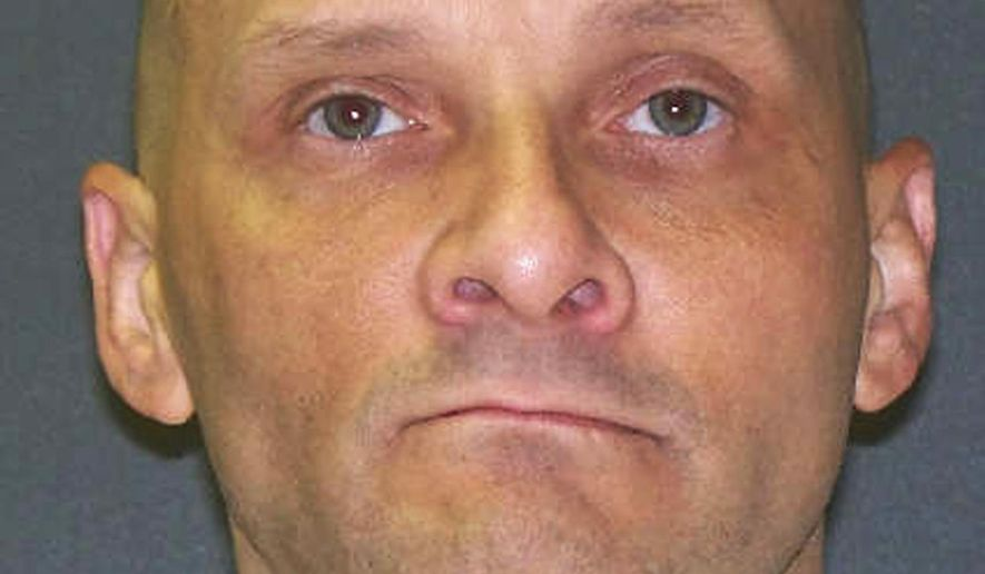 This undated photo provided by the Texas Department of Criminal Justice shows death row inmate Christopher Wilkins. Wilkins is set for lethal injection Wednesday, Jan. 11, 2017, as the nation's first execution this year. (Texas Department of Criminal Justice via AP)