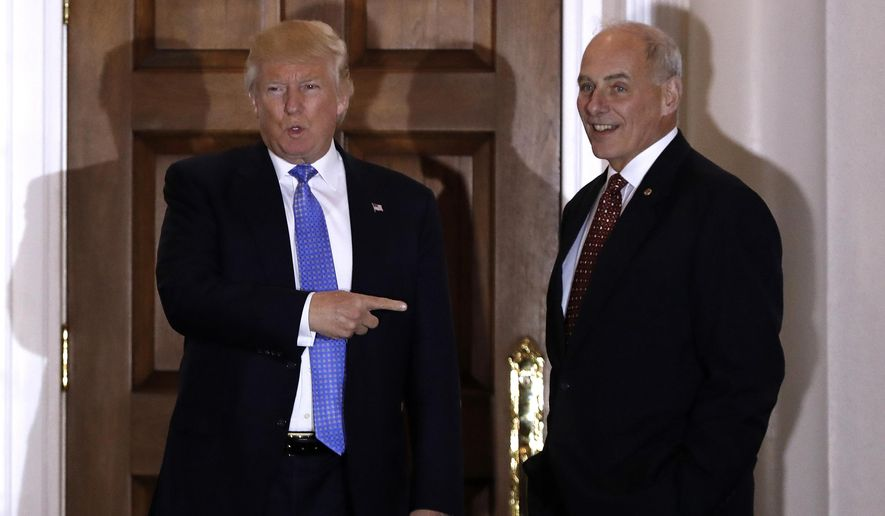 Former Homeland Security Secretary John F. Kelly, who started work this week as President Trump's chief of staff, signed waivers for three dozen laws, saying Congress has given his department exemptions when a critical border security mission is at stake. (Associated Press/File)
