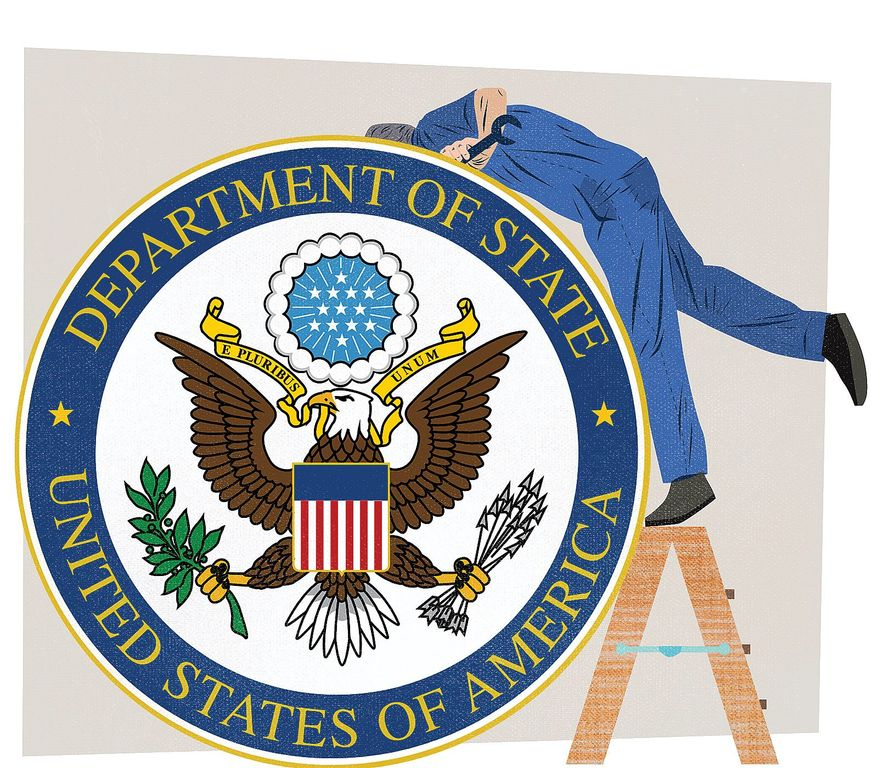 Fixing the U.S. State Department Illustration by Linas Garsys/The Washington Times