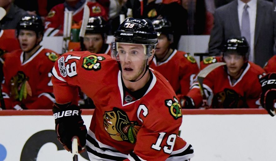 Blackhawks center Jonathan Toews was selected for the NHL All-Star Game over higher-scoring teammates. (Associated Press)